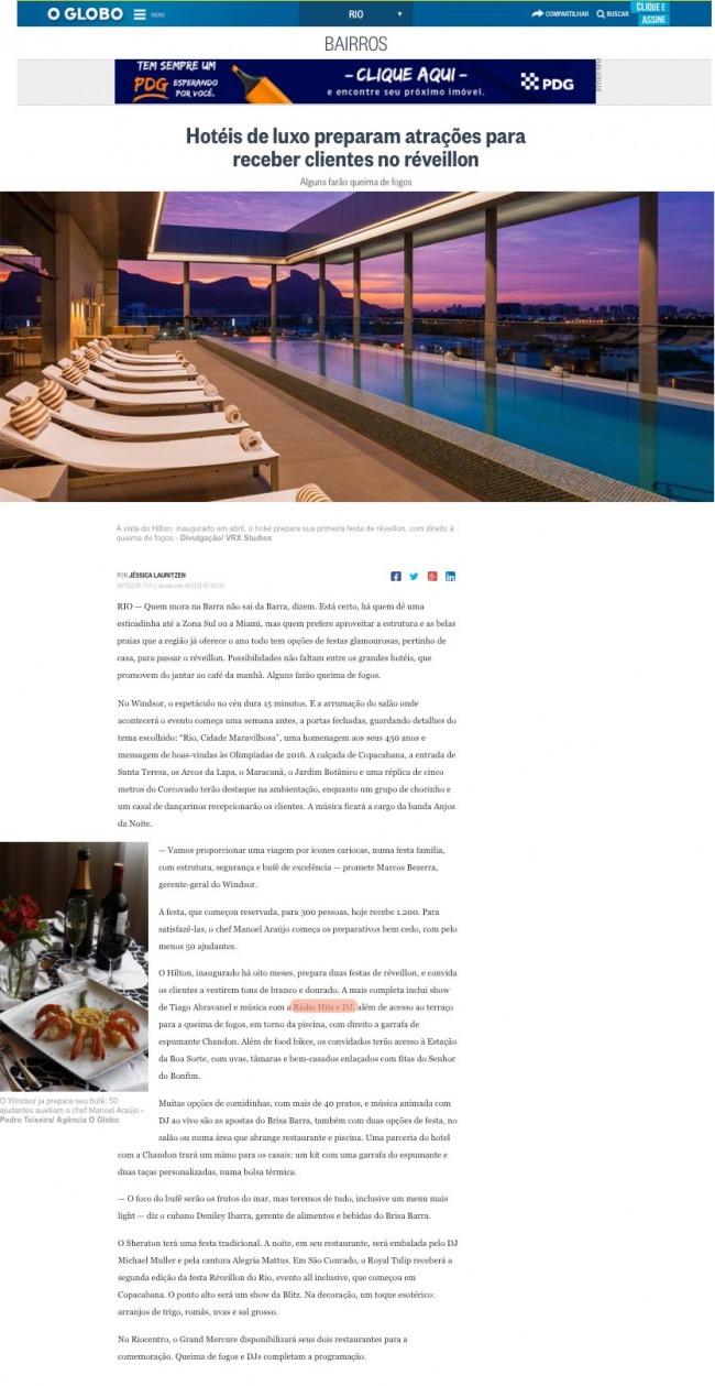 Hotéis de luxo preparam atrações para receber clientes no Réveillon