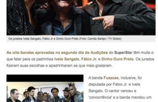 Bandas aprovadas 'rasgam' elogios aos padrinhos Ivete Sangalo, Fábio Jr. e Dinho